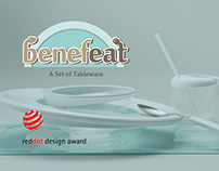 BENEFEAT - A SET OF TABLEWARE