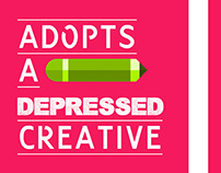 Adopts a depressed creative