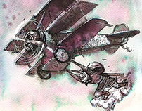 Selected color ink drawings, december 2014