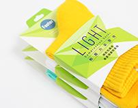 Footer / Socks Packaging Design / LIGHT 01