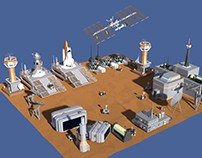 Low Poly Space Colony Pack