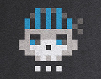 Pixel Skull tee at Cotton Bureau