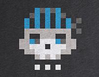 Pixel Skull tee at Cotton Bureau