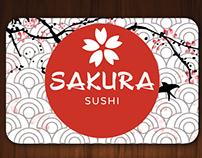 Business card for Sakura Sushi-Bar (2)