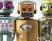 Vintage Robots - Martins Café