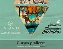 Afiches publicitarios para Talante, taller de impresión