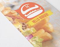 Burger Brand - Hello Burger [Trifold Brochure]