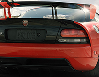DODGE VIPER SRT 10/ REAR / CGI