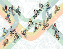 ellovelo : suburban cycling series poster