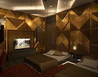 3D Visualization of a Modern Bedroom
