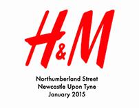 H&M Northumberland Street, Newcastle Upon Tyne.