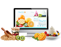 Honey Treat Yogurt Website Design
