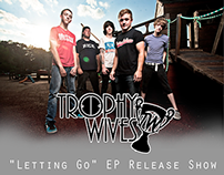 Trophy Wives - EP Release Poster & Event Flyer