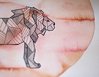 Geometric Watercolour Animals