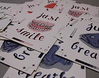 Silk screen Postcard