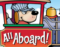 All Aboard!    Children's flap book
