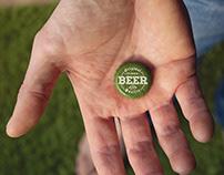 Garden Beer Cap Hand Mockup