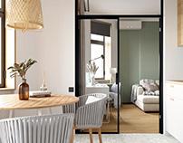 Scandinavian living-kitchen