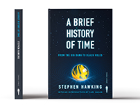 """Steven Hawking's """"A Brief History of Time"""" Cover Design"""