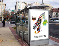 Norden/The Nordic countries Poster