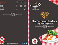 Home Food Indore Menu Design