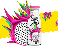 """Call me Juice"" packaging. Plasticine fruits."