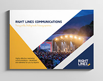 Right Lines Communications Brochure and Stationery