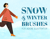 Snow and Winter Brushes for Adobe Illustrator