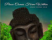 Illustration & Plotagraph | Peace Comes From Within