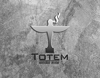 Totem smoke zone logo design