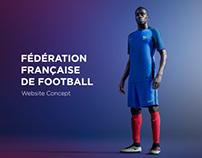 Fédération Française de Football  /  Website Concept