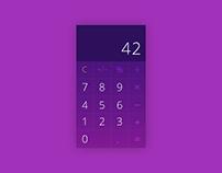 Daily UI | #004 | Calculator