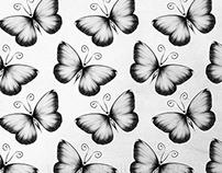 Grey Pattern Butterfly