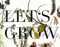 Let's grow // Botanical poster