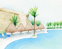 Custom Vacation Watercolor