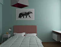 private residence. Girl's bedroom