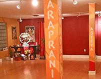 Maya Yoga pillar paintings