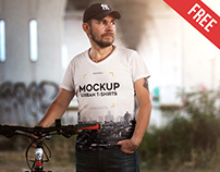 Urban T-Shirt – Free PSD Mockup