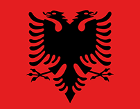 Albanian Typeface   Flat-Font inspired