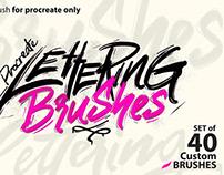 nine6brush procreate lettering