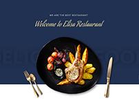Elisa - Restaurant, Winery & Cafe Sketch Template