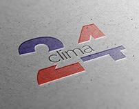 Clima 24 logotype design