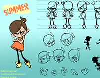 """Summer"" Character Design and 2D Animations"