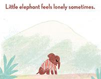 Little elephant feels lonely sometimes