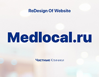 ReDesign of Website Medlocal.ru