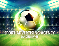 Sport Advertising Agency - Landing Page