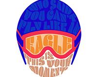 Eddie the Eagle - Text as Image