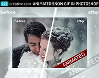 Animated snow GIF in Photoshop - add snow animation to