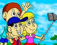 Selfie da turminha (personagens próprios)