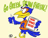 Rowdy Go Green Sketch